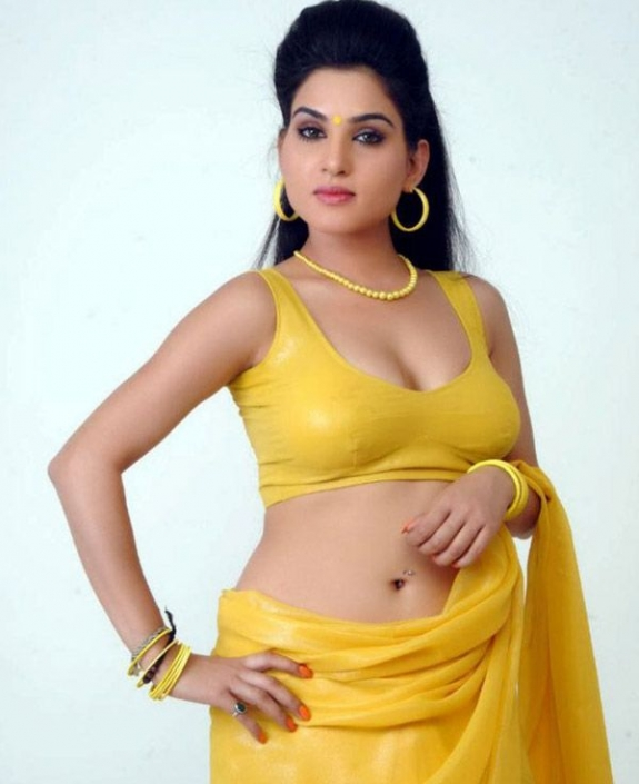 Kavya Singh in Yellow Saree