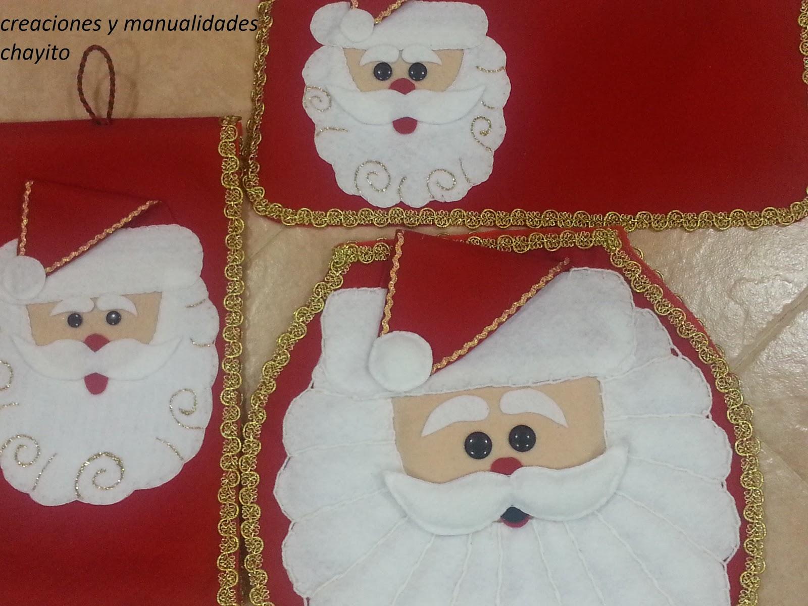 Juego de ba o navideno en fieltro for Juego de artefactos de bano