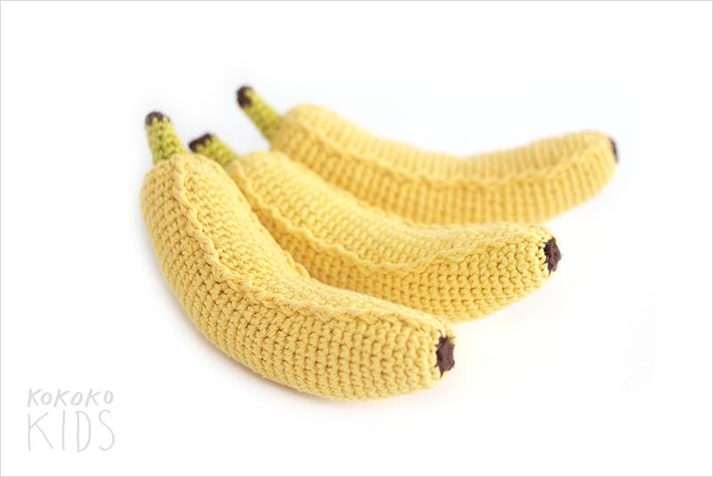 Банан вязанные крючком