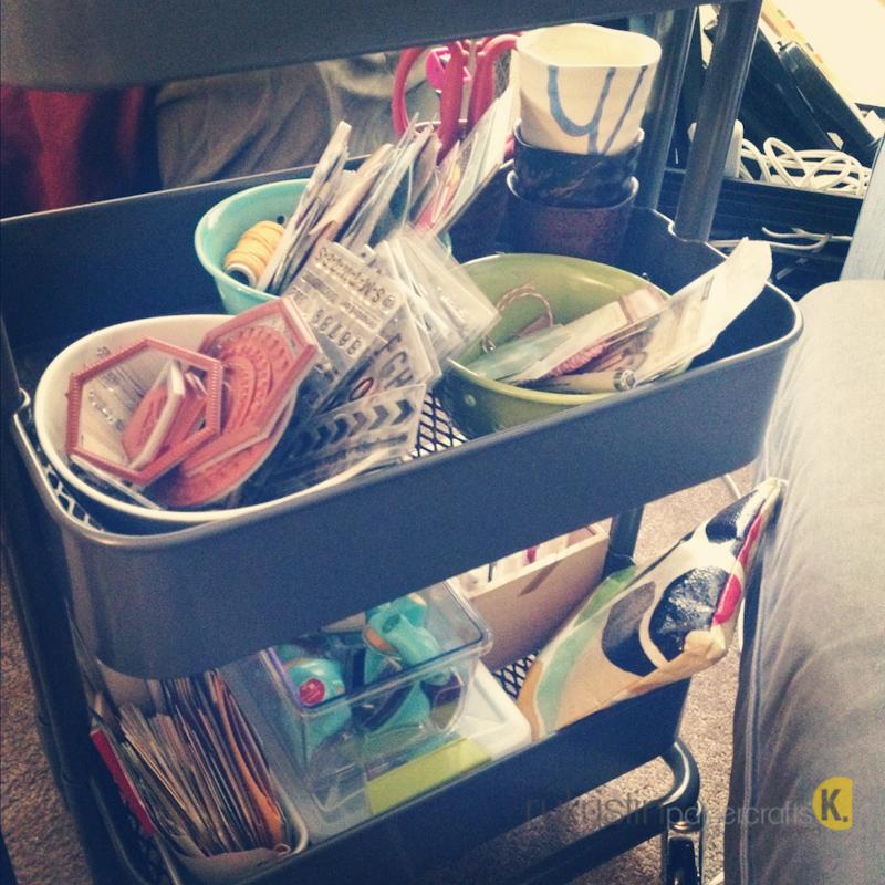 Rukristin papercrafts new organization ikea raskog cart for Tea trolley ikea