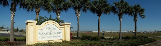 Entrando nuevamente a Manatee County a la altura del aeropuerto