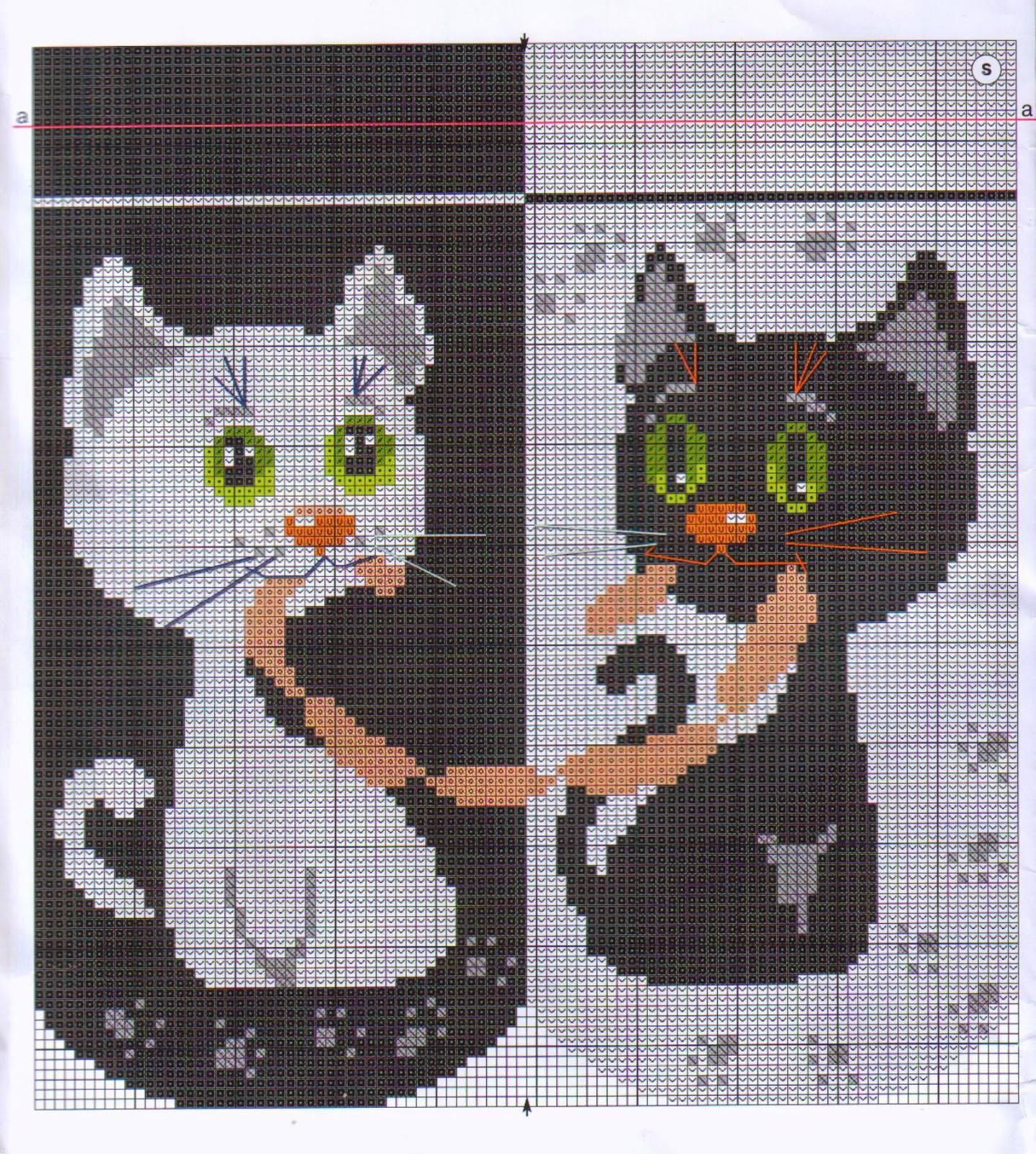 Схемы для вязания черно белые