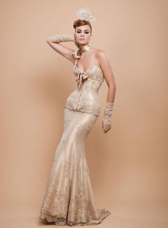 Vestido de novia dorado significado