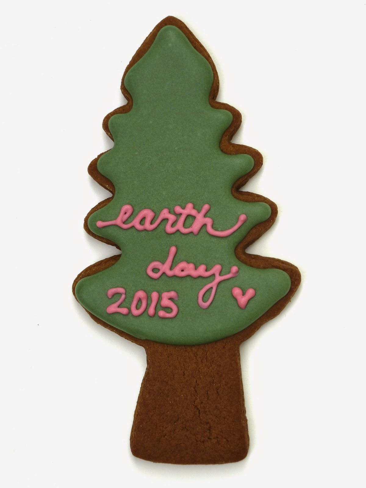 Decorated Earth Day Tree Cookie