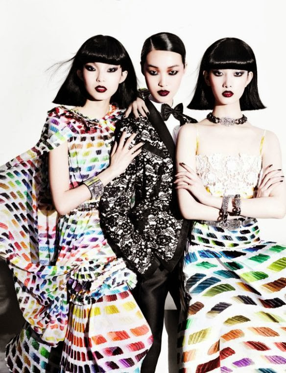 Tian Yi, Cici Xiang, Xiao Wen Ju HQ Pictures Vogue China Magazine Photoshoot March 2014 By Mario Testino