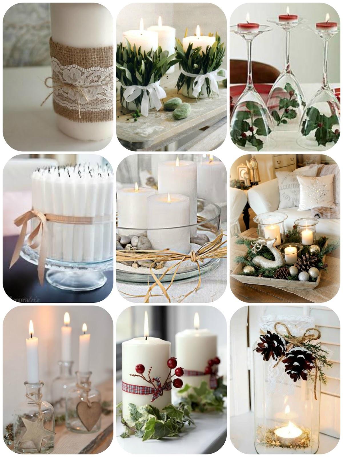 Cosas molonas decoraci n navide a con velas mi princesa emma - Decoracion con velas ...