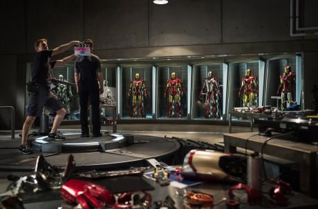 The First Photo From The Set Of Iron Man 3