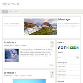 Numerto Magazine blogger template. free blogspot template magazine style. minimalist style design magazine blogger template