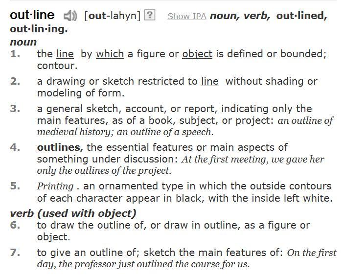 essay define terms