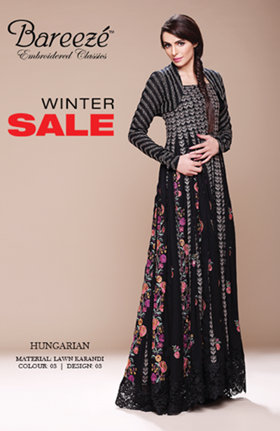 Bareeze Winter Collection 2014 With Prices Bareeze Winter Sale 2014
