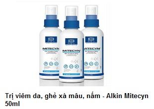 Alkin Mitecyn 50ml - Trị viêm da, ghẻ, nấm trên chó, mèo