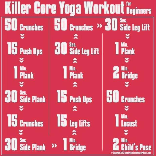 Yoga poses killer workout