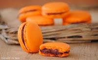 Macarons de ganache de chocolate con frambuesas