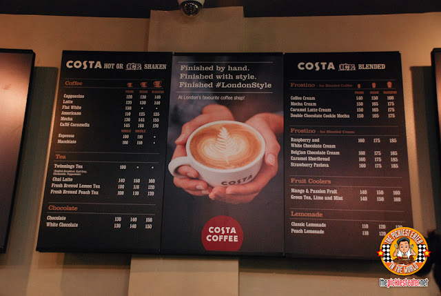 Costa Coffee Philippines Menu