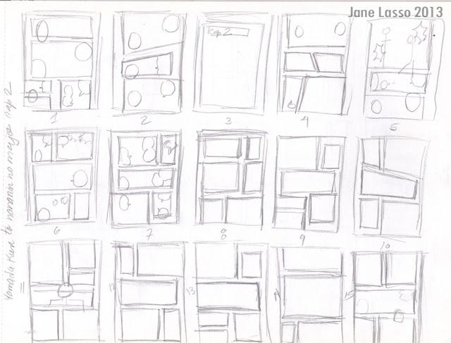 Práctica de viñetas y diálogos a lápiz