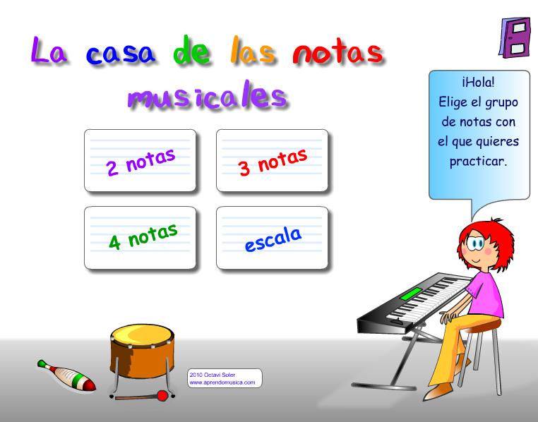 La casa de las notas musicales