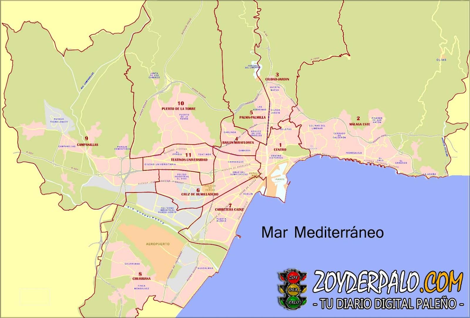 Zoyderpalo com distrito n 2 m laga este for Distrito ciudad jardin malaga