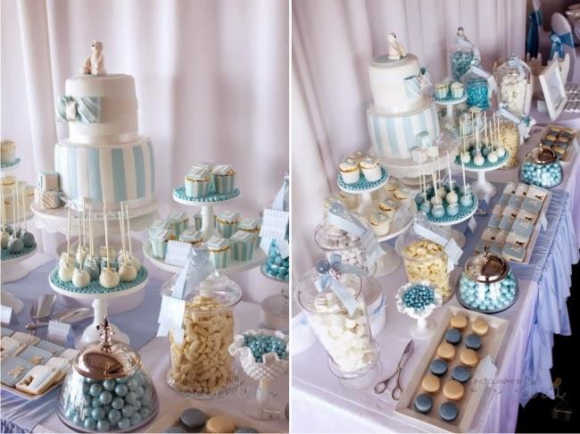 Chá de Bebê Tema Ursos, cupcake, cakepop, macaron