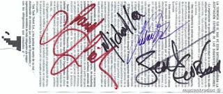 entrada firmada por thin lizzy