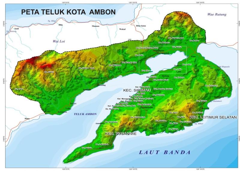 Ambon Indonesia  city photos gallery : Purna Paskibraka Indonesia KOTA AMBON : Kekayaan Peta Kota Ambon