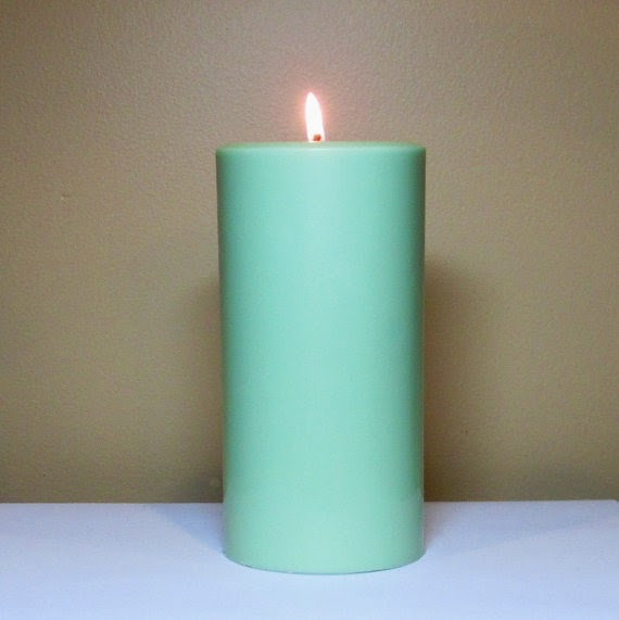 unscented pillar candles
