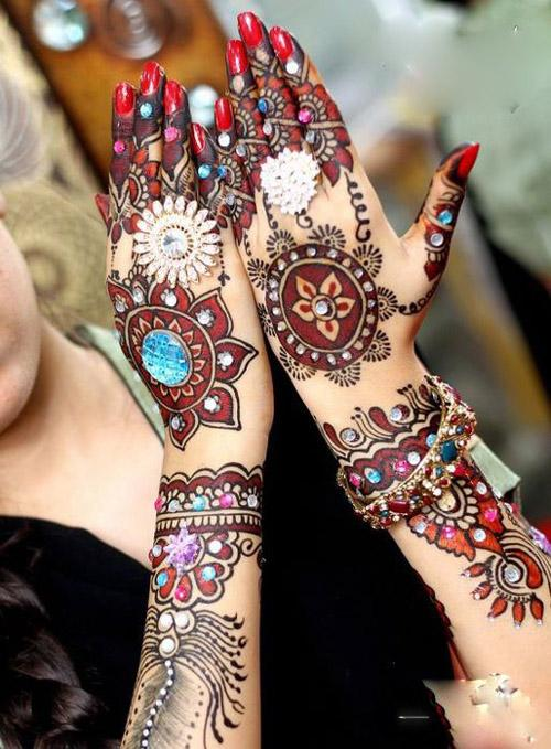 Image result for color mehandi designs 3 images together