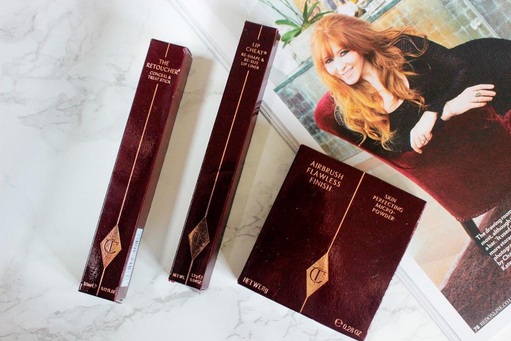 Charlotte Tilbury Harrods Makeup Experience Haul Retoucher 2 flawless airbursh finish powder lip cheat pillow talk