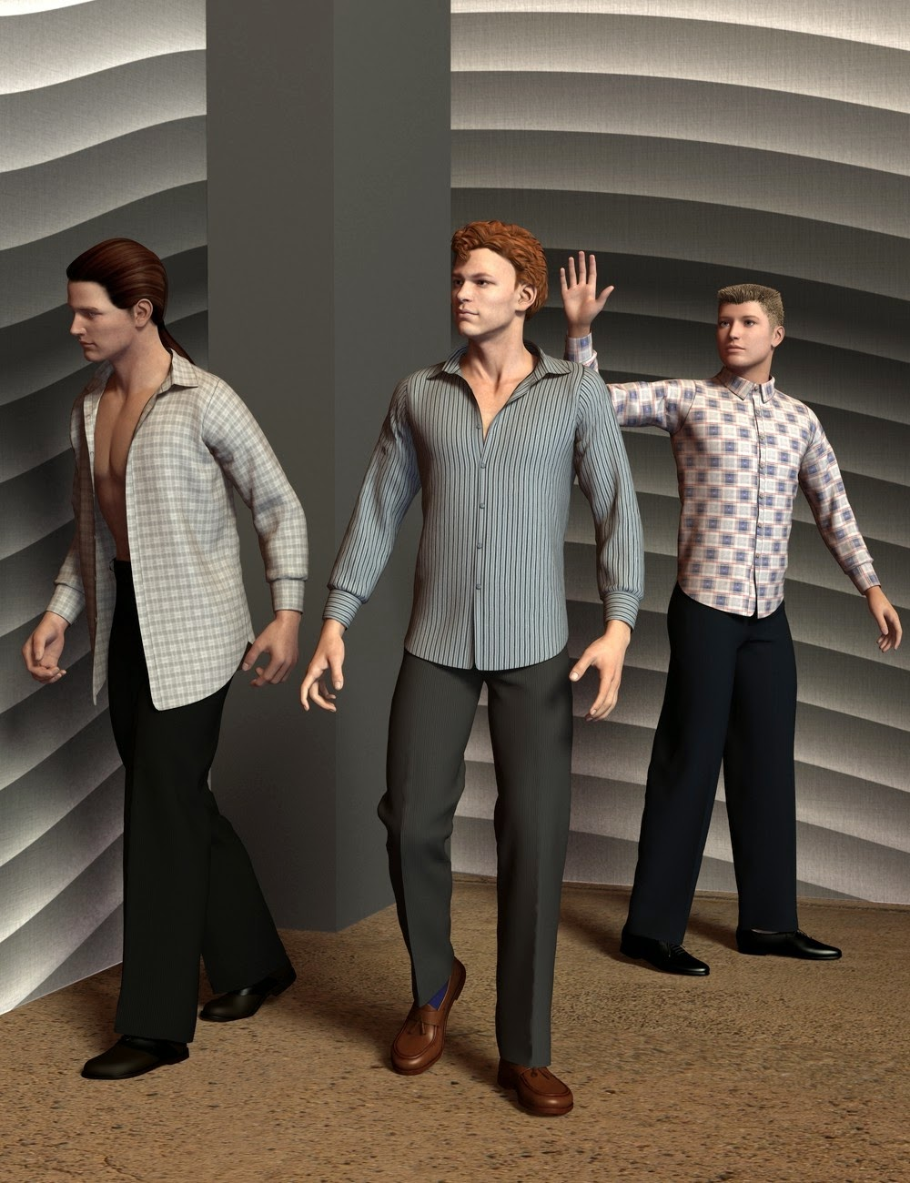 3d Models - Genesis Male(s) Everyday Shirt and Pants