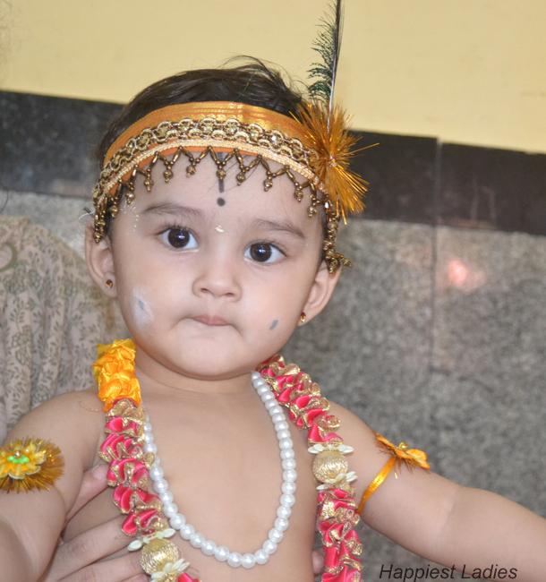 Baby Krishna+Indian Festival