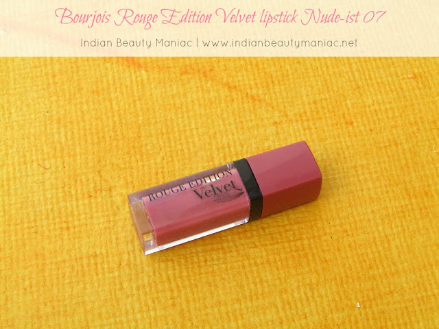 Bourjois Rouge Edition Velvet Lipstick in Nude-ist 07, Bourjois Lipsticks in India, NC 40, Lipsticks for NC 40, Every day lipstick, Bourjois, Indian Beauty Blogger, Indian Makeup Blogger