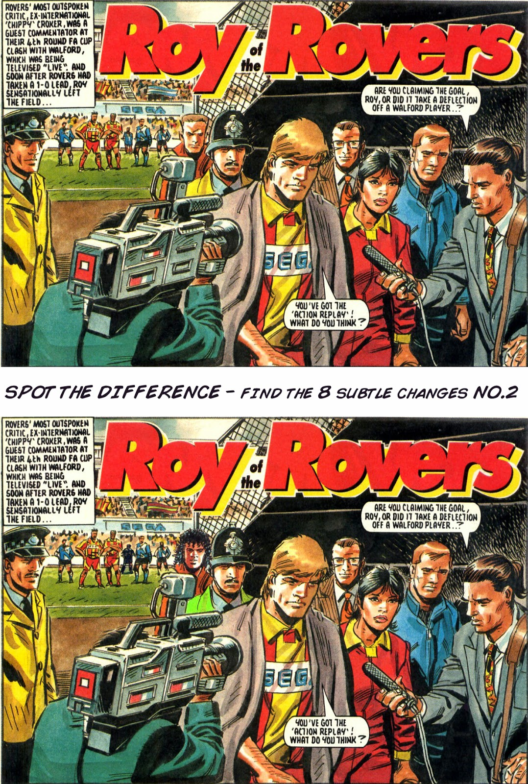 Roy of the Rovers Spot the Difference No.2