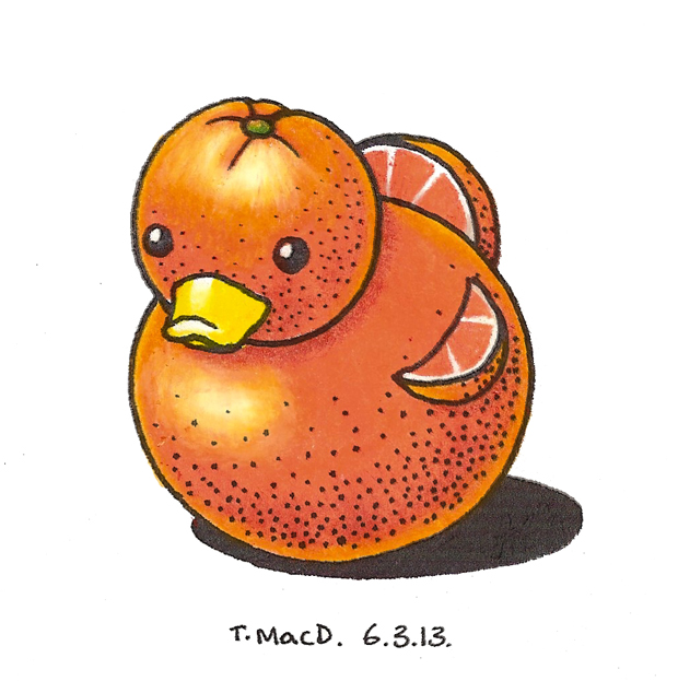 An Illustrated Diary: Duck a l'Orange