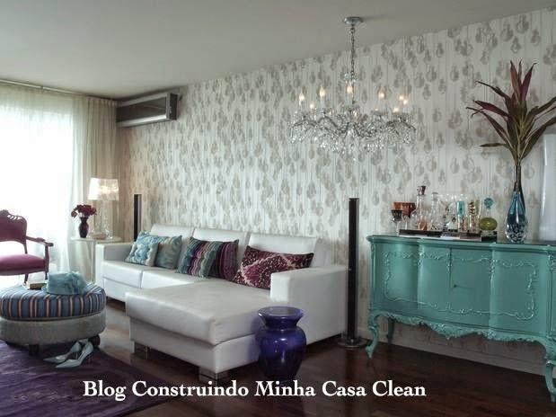 Sala De Tv Com Sofa Branco ~  Casa Clean 15 Salas com Sofá Branco Decoradas! Super Tendênci