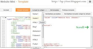 cara menyiasati edit html template blank di blogspot