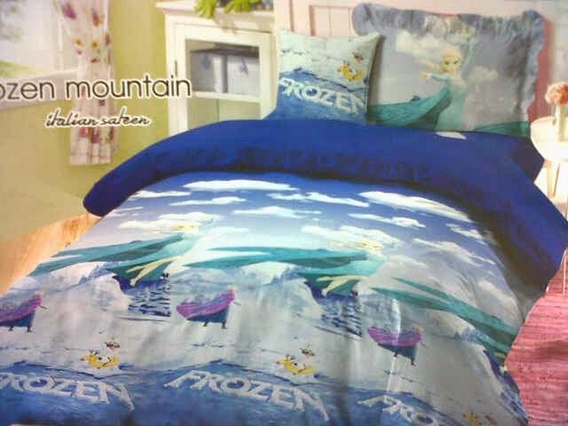 Sprei Anak Motif Frozen Mountain Biru