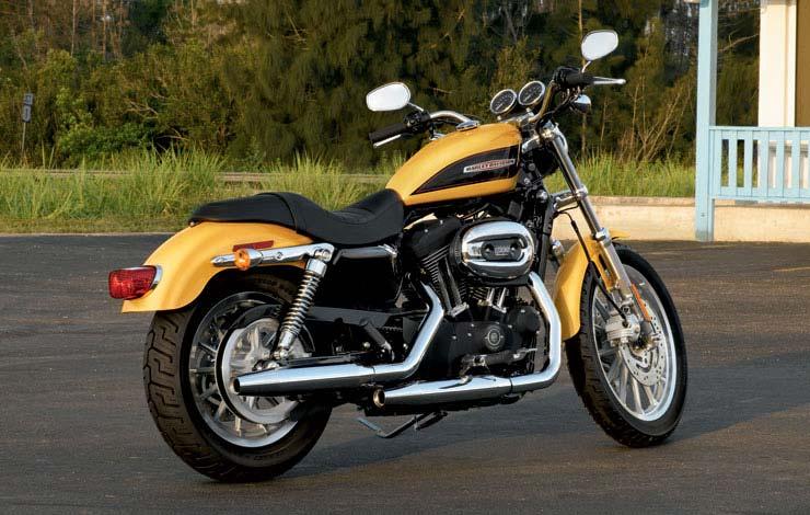 Moto Custom Harley Xl 1200r Roadster Gialla 2006 2007
