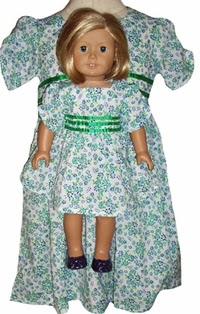 doll clothes superstore blue green dollie dress
