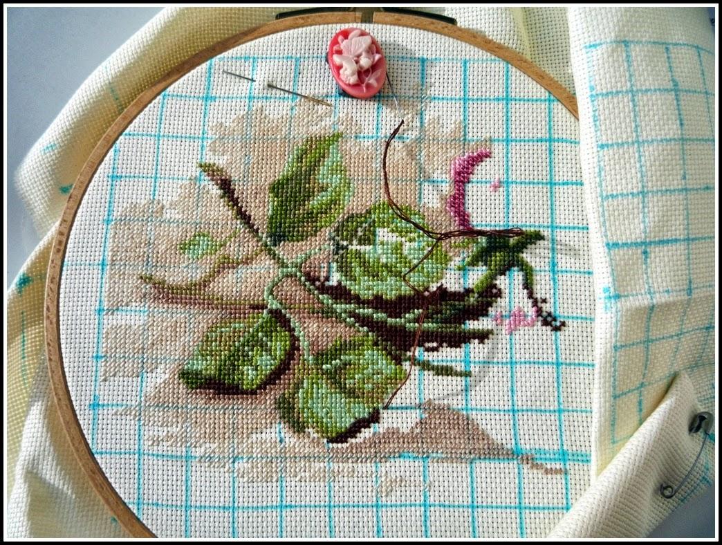 Вышивка срезанные розы дименшенс 87