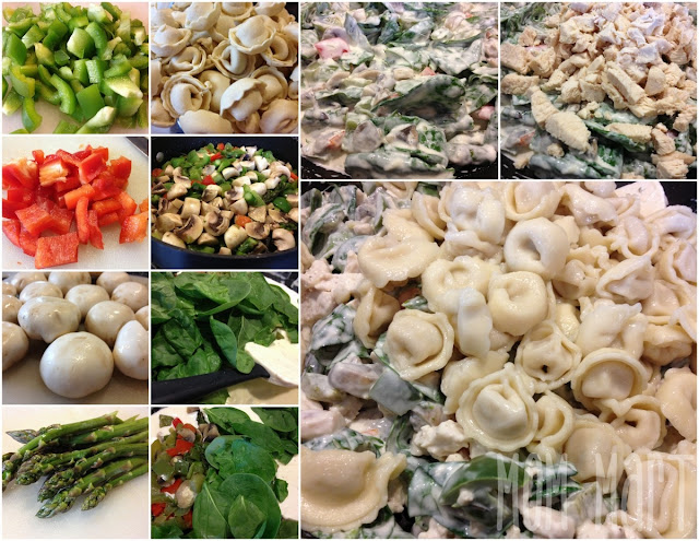 how to make vegetable tortellini in Alfredo Sauce