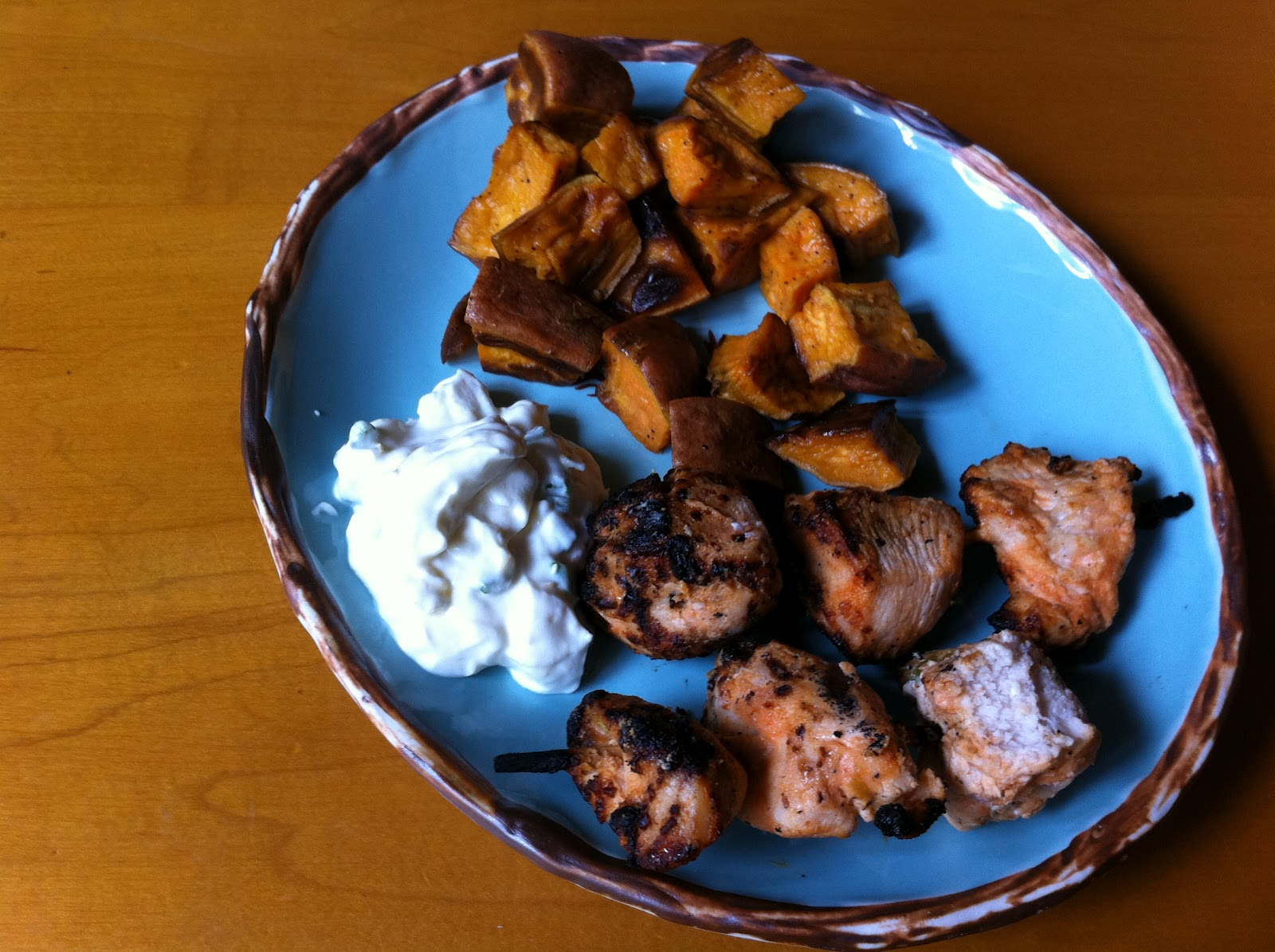 The Meat and Potatoes Foodie: Buffalo Chicken Kabobs with Blue ...