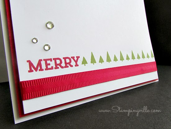 Stampin' Up! CAS Christmas Card | Stampingville #cardmaking #papercrafts #StampinUp