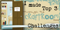 Top 3 Through the craft room door challenge week of January 29