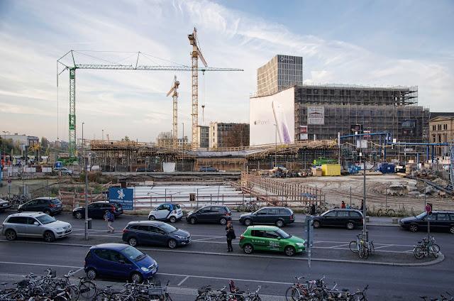 Baustelle Tram-Station am Hauptbahnhof, M6, M8, M10, Invalidenstraße 53, 10557 Berlin, 27.10.2014