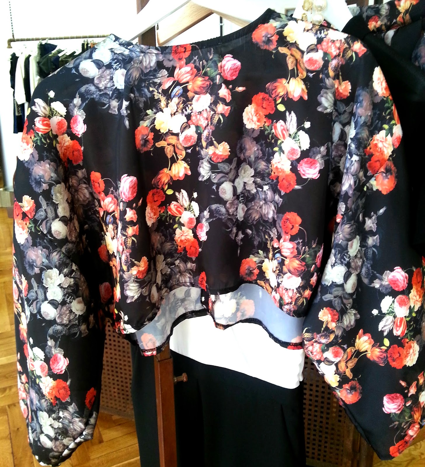 Crop Top Floral Neopreno
