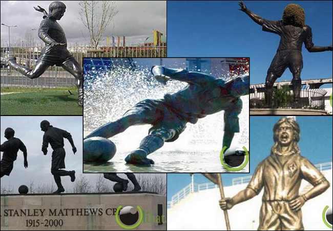 10 Pemain Sepakbola Legendaris Dunia yang Dibuatkan Patung di Stadion