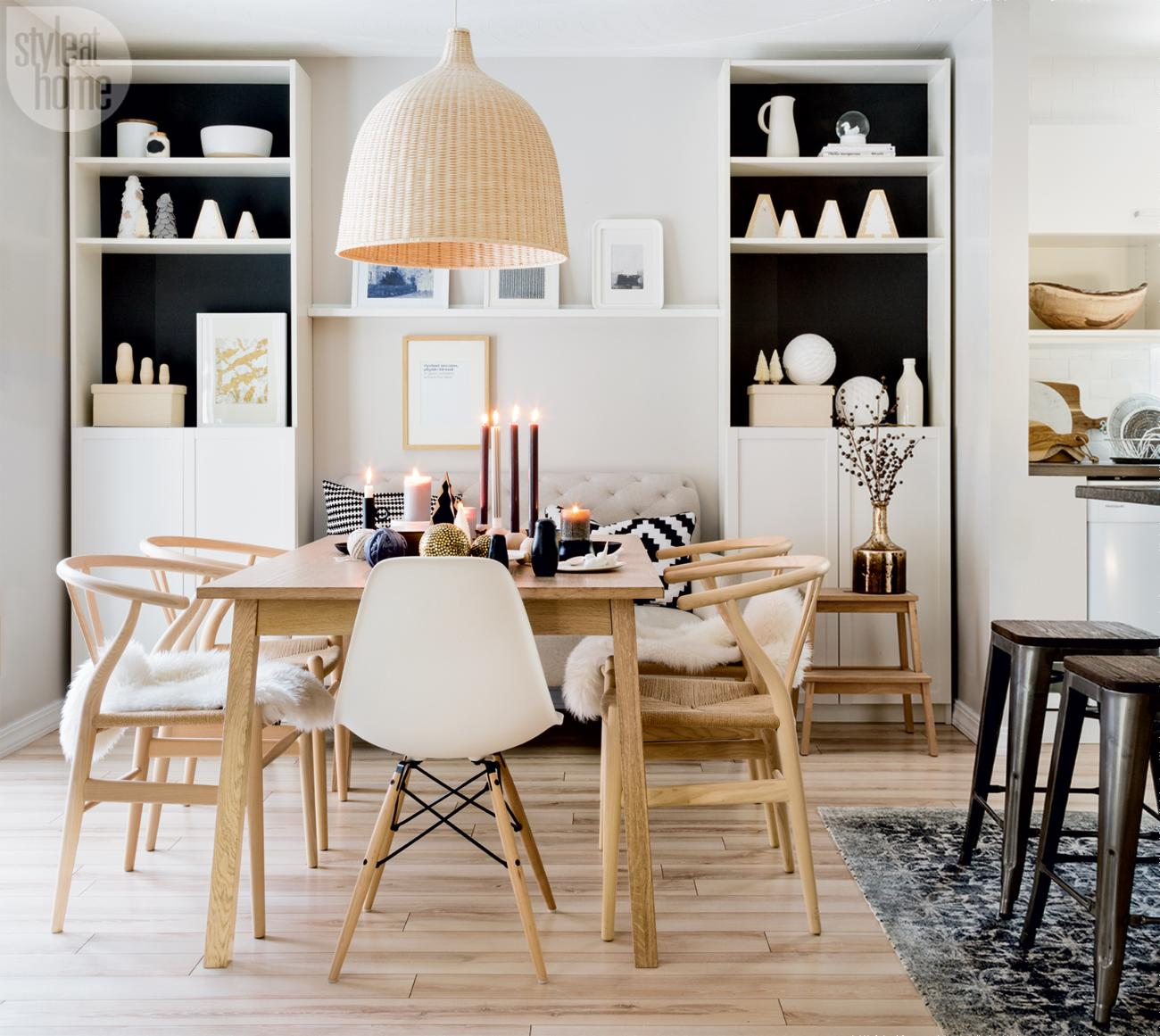 Design attractor christmas in scandinavian style for Dining room ideas eames