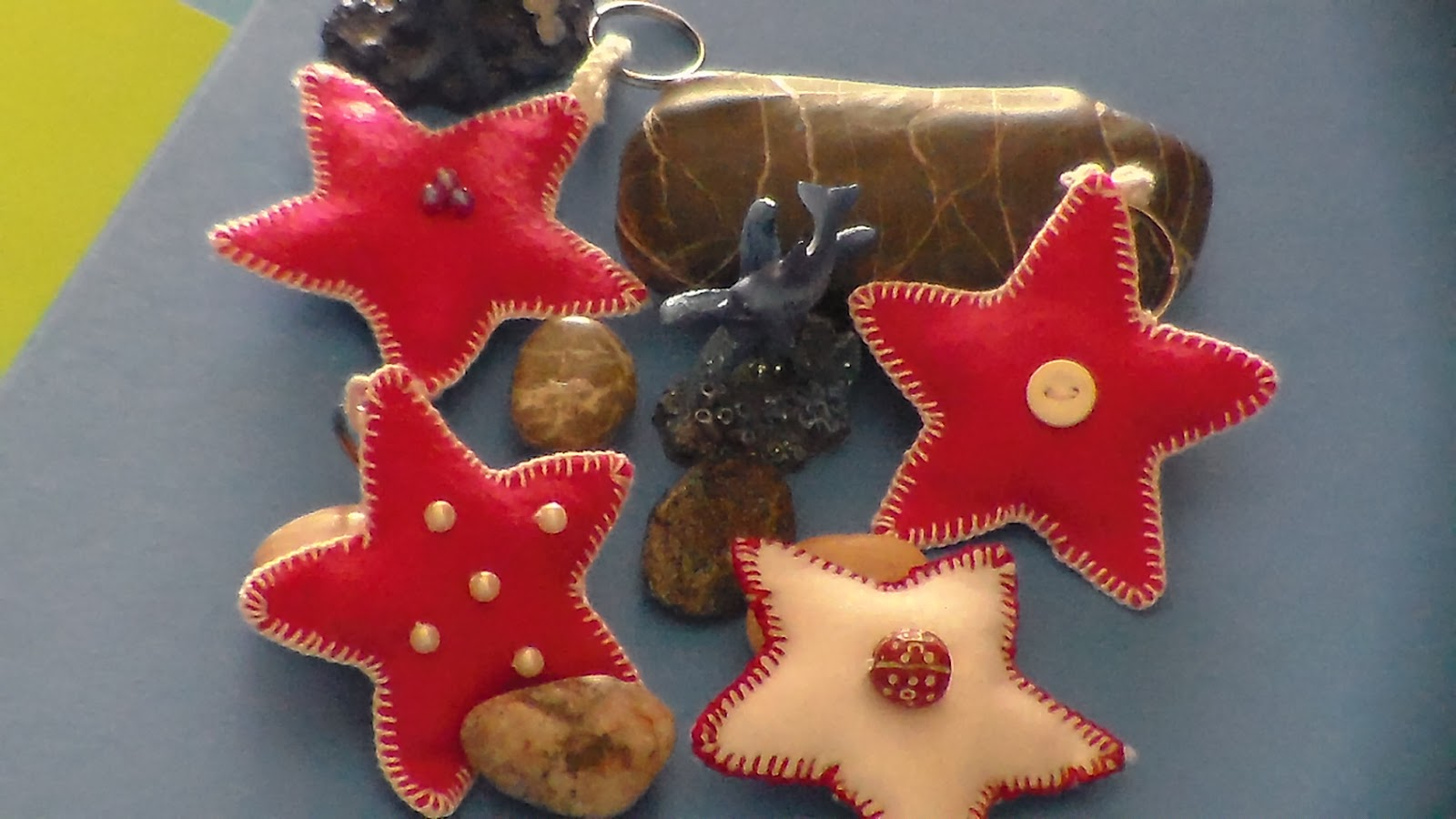 Week ends creativi portachiavi stella marina in feltro for Portachiavi pannolenci