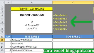 Membuat Label Undangan dengan Excel
