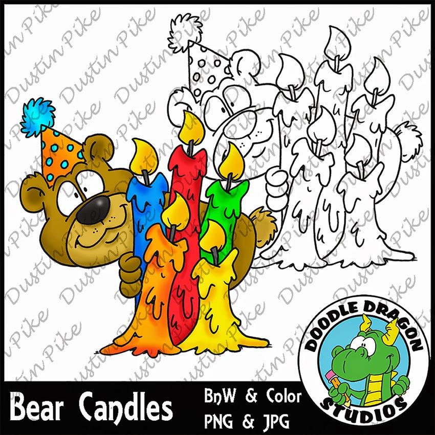 http://www.doodledragonstudios.com/digital-stamps/bear-n-candles/prod_384.html