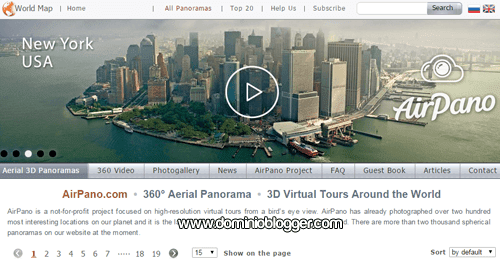 tour mundial y virtual en 360 grados con Airpano